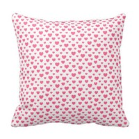 Pink heart pattern pillows