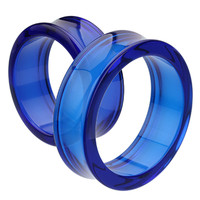Supersize Acrylic Double Flared Ear Gauge Tunnel Plug