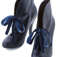ModCloth Vintage Inspired, Luxe, Statement, French A Lotus to Love Bootie