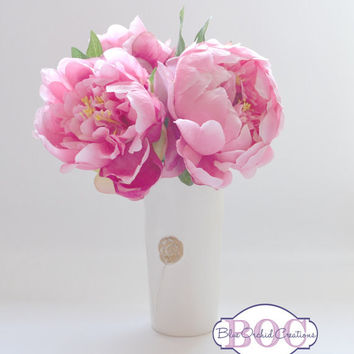 FLASH SALE - Silk Peony Arrangement, Limited Time Offer, You Pick the Color, You Pick the Size, Silk Peonies, Inexpensive, Peony, Peonies