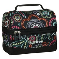 Gear-Up Light Bright Floral Retro Lunch Bag