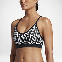 The Nike Indy Block Logo Women's Light Support Sports Bra.