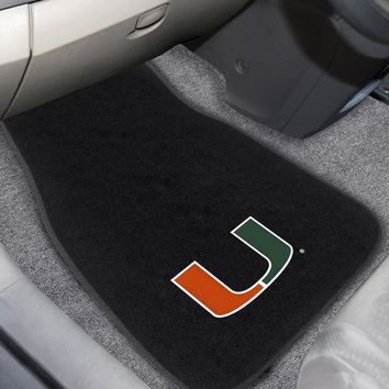 "Miami 2-pc Embroidered Car Mats 18""x27"""