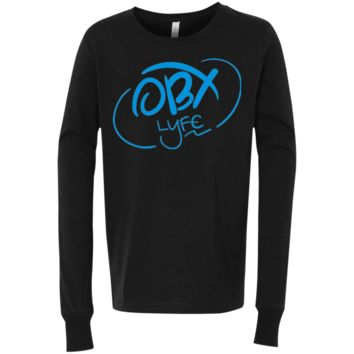OBX Lyfe Sky Blue Bella + Canvas Youth Jersey Long Sleeve T-Shirt in 4 Colors