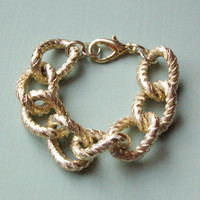 Ariana Chunky Textured Gold Bracelet by Kookii Boutique