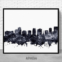 Orlando Print, Orlando Skyline, Orlando Florida, City Wall Art, Office Prints, Travel Art, Skyline Art, Office Poster, ArtPrintZone