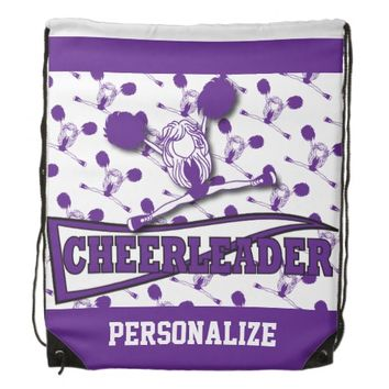 Cheerleader Personalize Backpacks -Purple