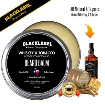Whiskey & Tobacco Styling Beard Balm | Premium All Natural Beard Balm