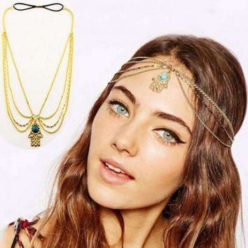 Multi-layer Chain Women Headband