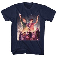 BILL AND TED-SPARKLE-NAVY ADULT S/S TSHIRT-S