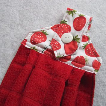 best hanging kitchen towels with buttons products on wanelo
