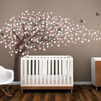 Brown Cherry Blossom Tree for nursery wall decal