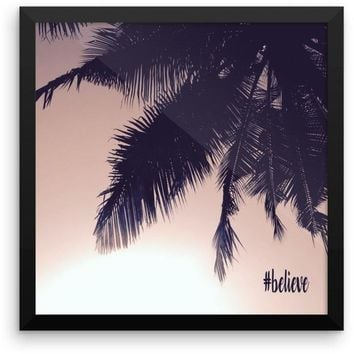"""Framed """"#believe"""" photo paper poster"""