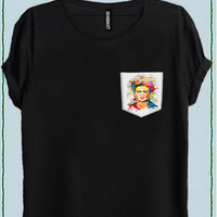 FRIDA KAHLO WOMEN POCKET T-SHIRT code50800