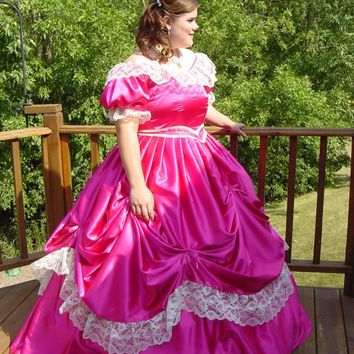 Custom Made Victorian Bridal Civil War Steampunk Dress/party Dress/holiday Costume