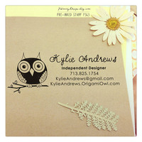 Origami Owl Self Inking Stamp / Pre-inked Stamp. Business Stamp, Logo Stamp, Owl Stamp, Independent Designer (P363) Free Proof