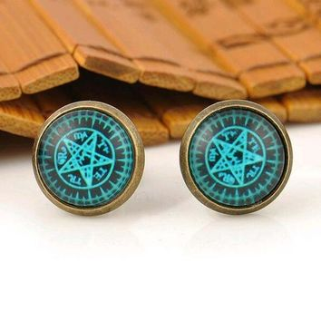 Cosplay Kuroshitsuji Japan Anime Black Butler Stud Earrings For Women Girl Jewelry Magic Circle Earings