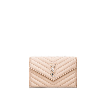 yves saint laurent kate quilted calfskin leather french wallet