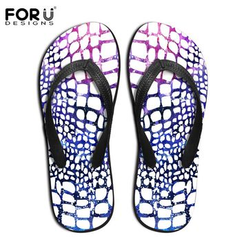 Fashion Novelty Men's Flip Flops New Design Serpentine Leopard Printed Slippers Summer Beach Sandals Male Flat Shoes Size 39-44