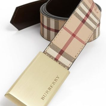 Men's Burberry 'Barnsfield' Check Belt,