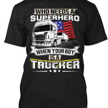Funny USA Trucker Boy Gift Shirts
