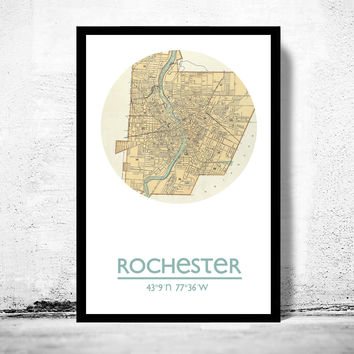 ROCHESTER - city poster - city map poster print
