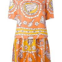 VONEG8Q Moschino Cheap & Chic bone print dress