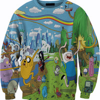 Adventure Time Sweater Crewneck Sweatshirt