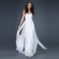 Strapless Chiffon Prom Dress