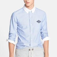 Men's Band of Outsiders Extra Trim Fit Monogram Oxford Shirt