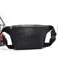 LV X Supreme Women Shopping Leather Purse Waist Bag Single-Shoulder Bag Crossbody