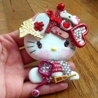 The Doctor Is In Hello Casting Kitty Flat Back Cabochon Decoden DIY