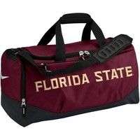 Nike Florida State Seminoles Garnet Medium Training Duffle Bag