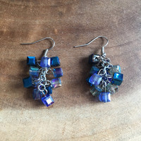 Blue Earrings, Swarovski Earrings, Blue Crystal Earrings, Dangle Earrings, Bridesmaid Earrings, Formal Earrings, Prom Earrings