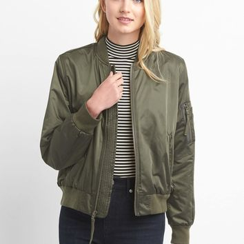 Nylon bomber jacket | Gap