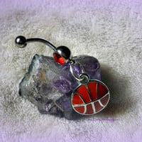 March Madness Basketball Belly Ring, Sport, Team,