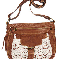 Crocheted Lace Crossbody Bag | Wet Seal