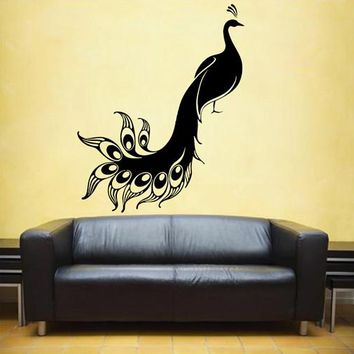 ik1669 Wall Decal Sticker Peacock feathers living room bedroom