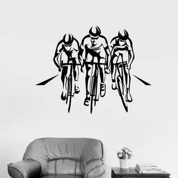 Vinyl Wall Decal Cycle Sport Race Cyclists Bicycle Stickers Unique Gift (1996ig)