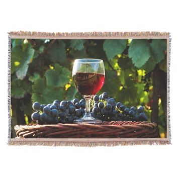 Wine Lovers Throw Blanket