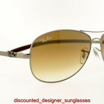 RAY-BAN SUNGLASSES RB 8301 004/51 00451 59MM GUNMETAL BROWN GRADIENT AUTHENTIC