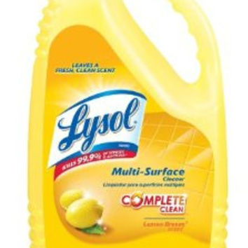 Lysol Disinfectant All Purpose Cleaner, Lemon Scent, 144 Ounce