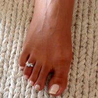 Beautiful Sterling Silver Toe Ring - Adjustable Toe Ring - Plain Toe Ring - Foot Accessories - Midi Toe Ring - Band Toe Ring - Toering