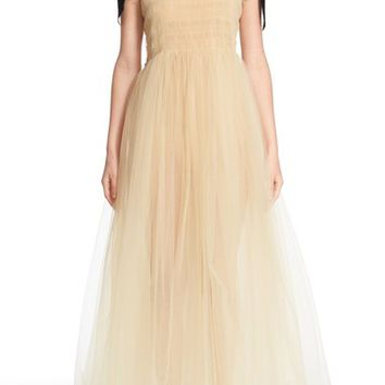 Molly Goddard 'Claudia' Smocked Tulle Dress | Nordstrom