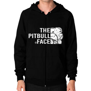 Fashions the pitbull face Zip Hoodie (on man)