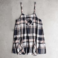 somedays lovin - morning rain pinafore plaid dress - multi