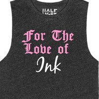 For The Love of Ink-Female Heather Onyx T-Shirt