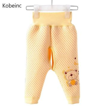 Toddler Baby Girls Open File Pip Pants Newborn Clothing High Waist Leggings Boys Comfortable Cute Cartoon Printed Pant Baby Care