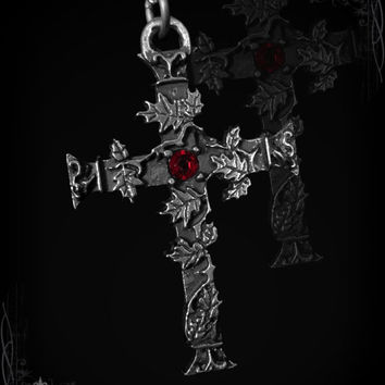 Gothic cross with oak leaves, Quercus Cruxis