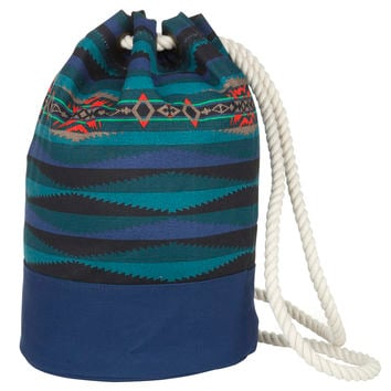 Pendleton Printed Canvas Duffel Bag Aegean, One